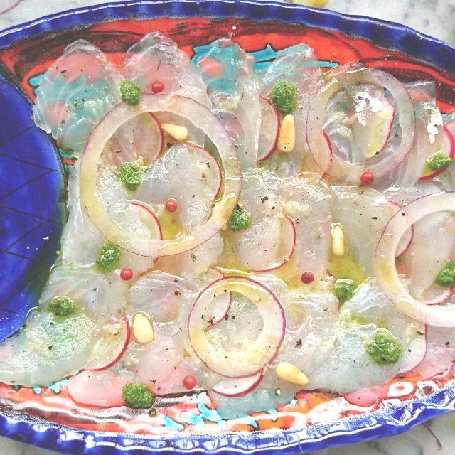 さっぱり美味しい白身魚のカルパッチョのレシピ