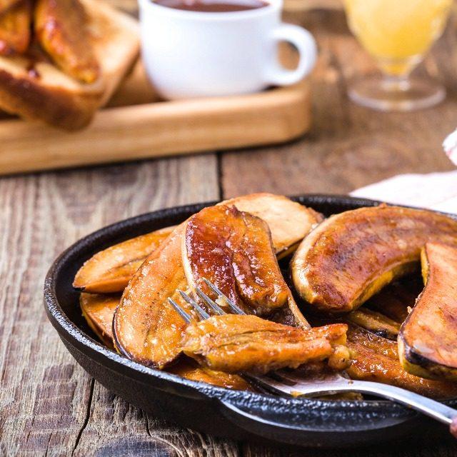 映える朝食バナナキャラメリゼの簡単レシピ
