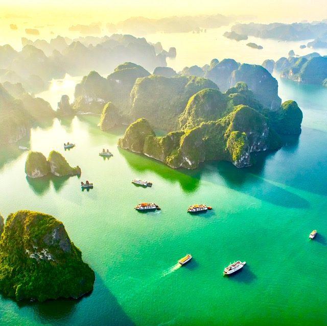 ベトナムの世界遺産ハロン湾日帰りクルーズ